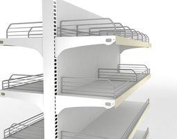 3D model Empty display shelf