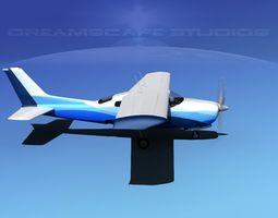 Cessna 210 Centurion V12 3D Model