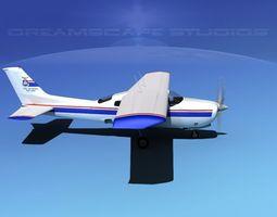 Cessna 210 Civil Air Patrol 3D Model