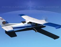 Cessna 210 US Border Patrol 3D Model