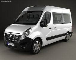 3D model Vauxhall Movano Passenger Van 2010