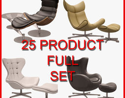 3D model Armchair and Sofa Set 001 25 Product