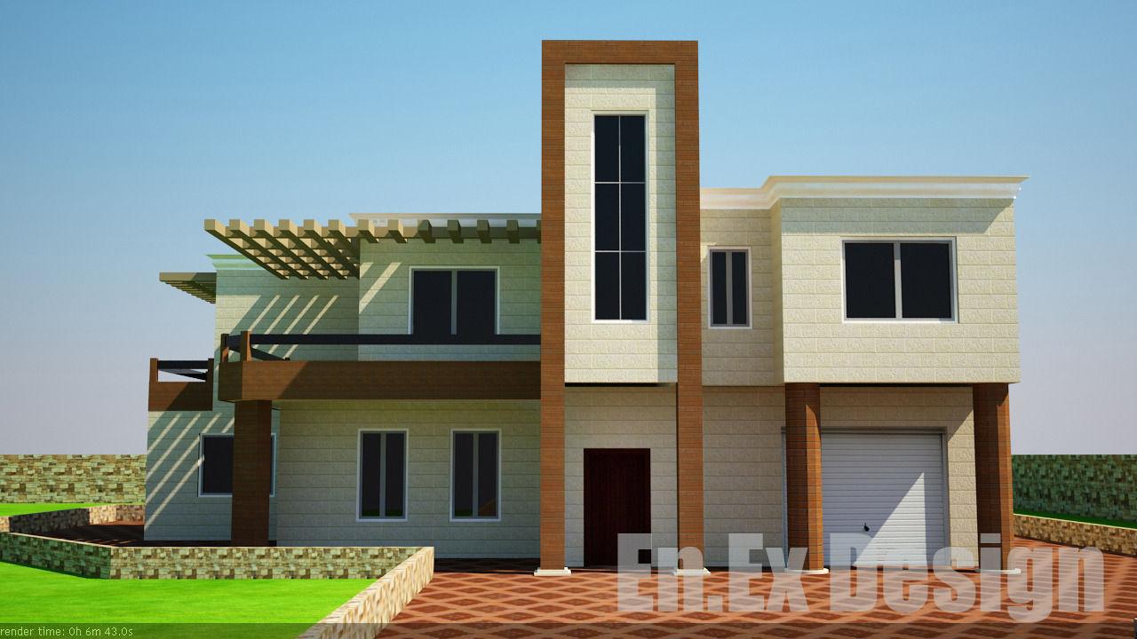 Modern villa 3d model max obj 3ds dwg 1