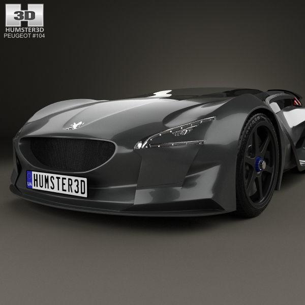 ... Peugeot Ex1 2010 3d Model Max Obj 3ds Fbx C4d Lwo Lw Lws 6 ...