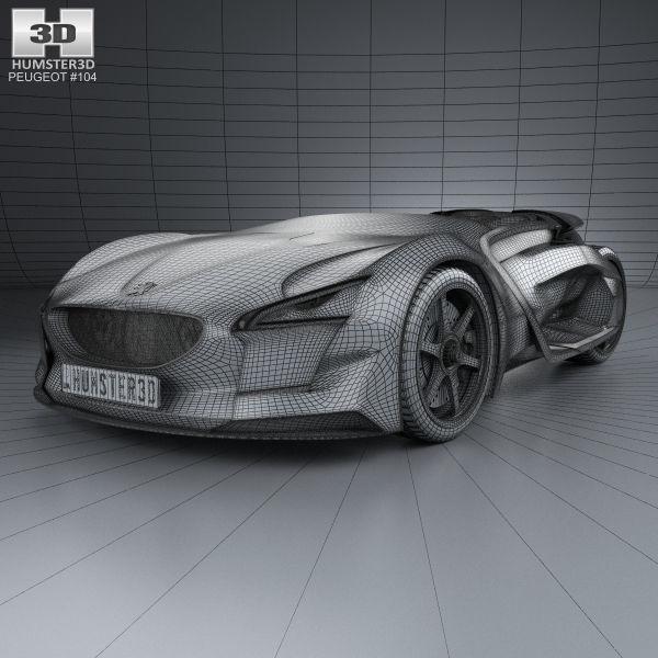 ... Peugeot Ex1 2010 3d Model Max Obj 3ds Fbx C4d Lwo Lw Lws 3 ...