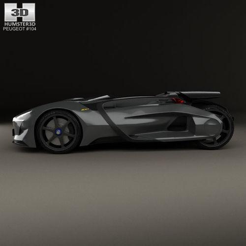 ... Peugeot Ex1 2010 3d Model Max Obj 3ds Fbx C4d Lwo Lw Lws 5 ...