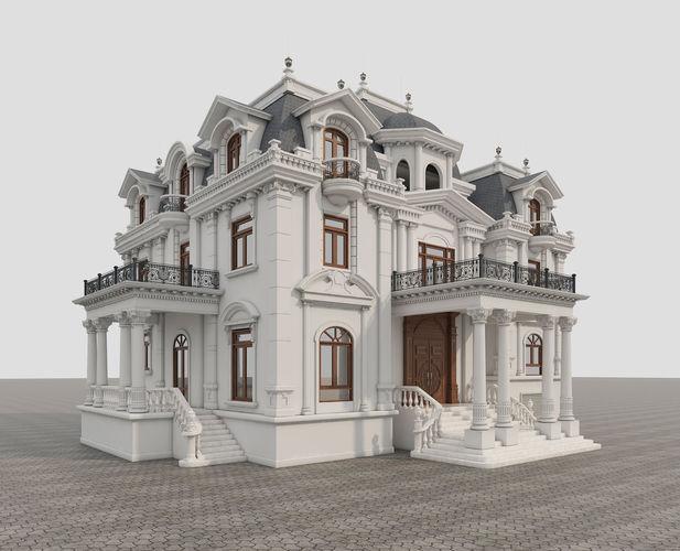 classic villa 3d model max obj mtl fbx 1