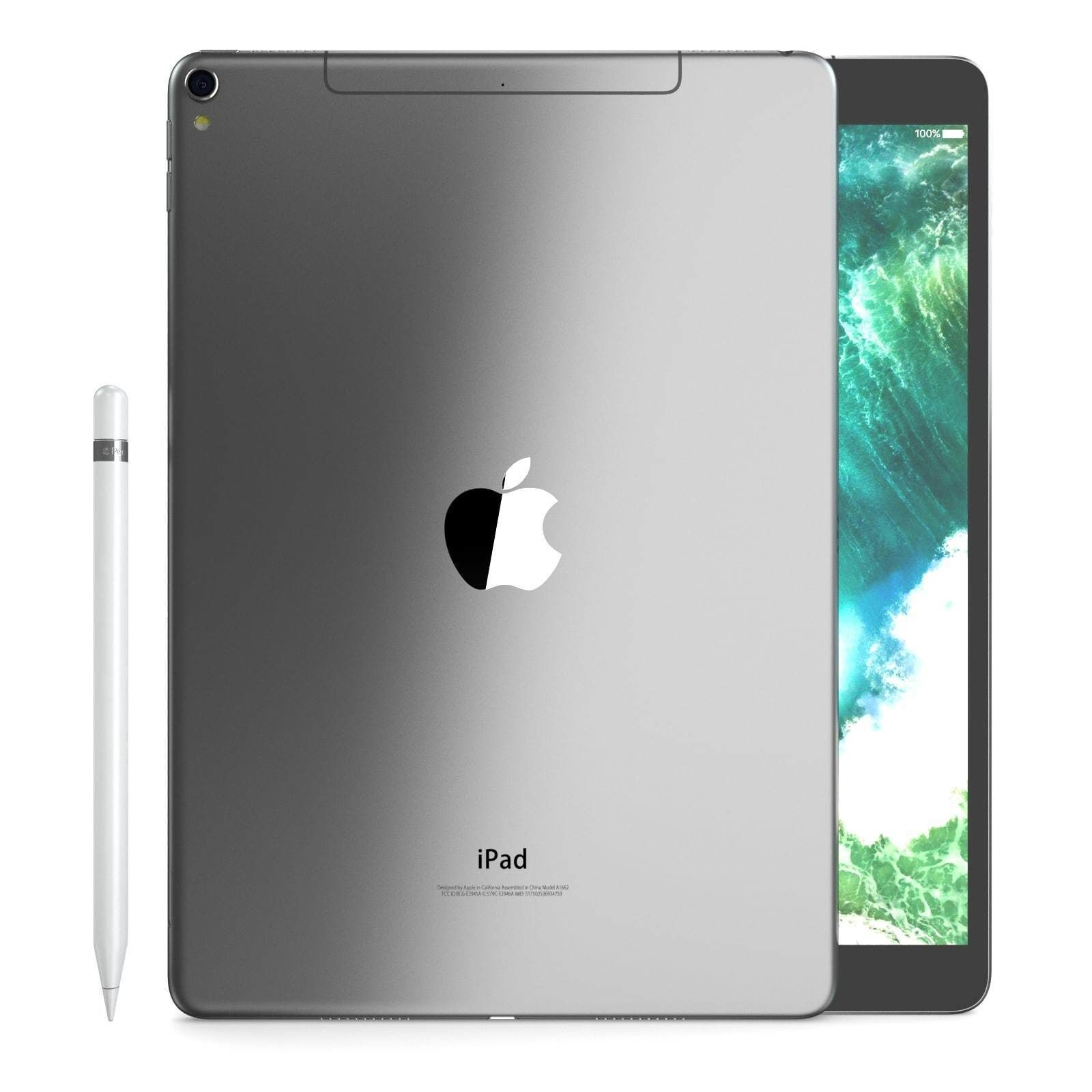 E3d Ipad Pro 10 5 Inch Cellular Space Grey 3d Model