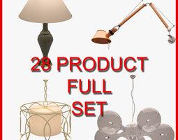 3D model Interior Lamp Set 001 28 Product