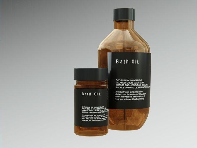 Bath Oil Bottles