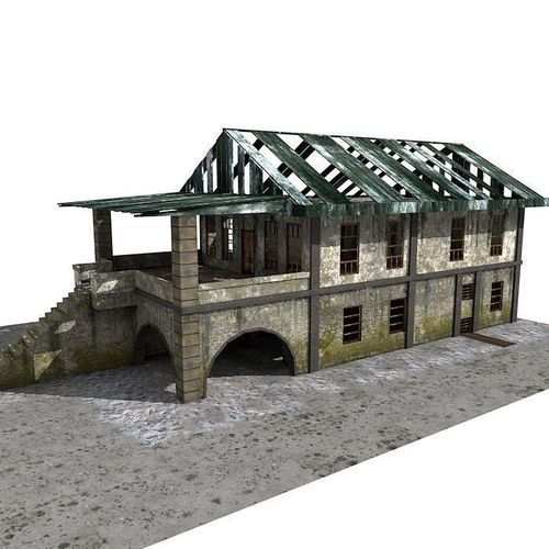 Lowpoly Abandoned Building3D model