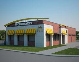 3D model McDonalds Restaurant 02
