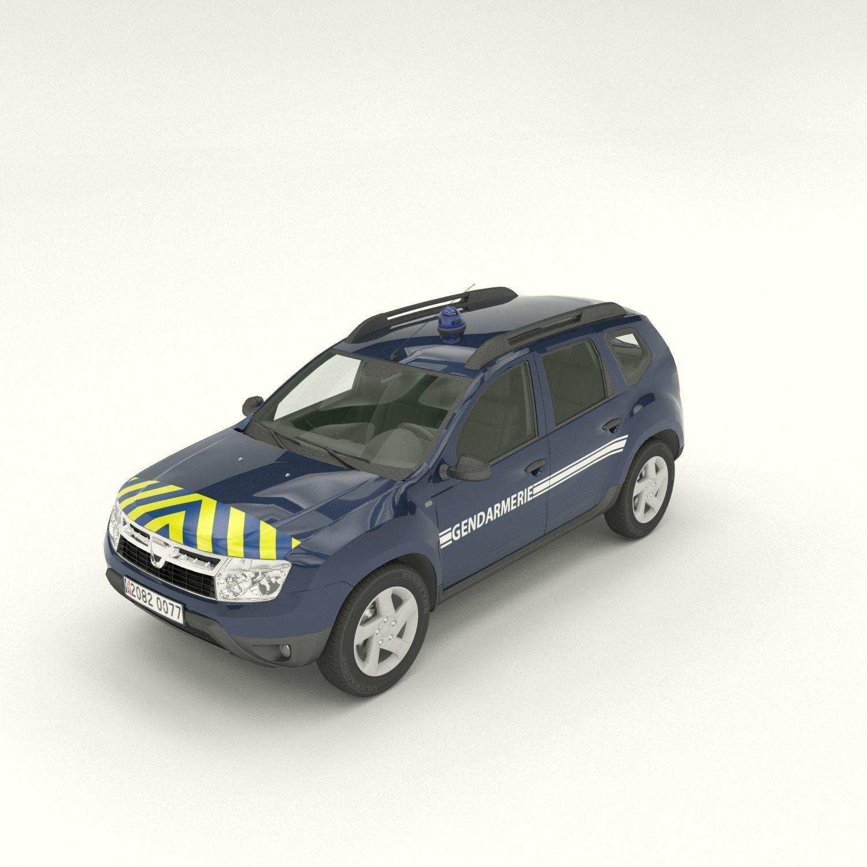 Gendarmerie Dacia Duster 3D Model
