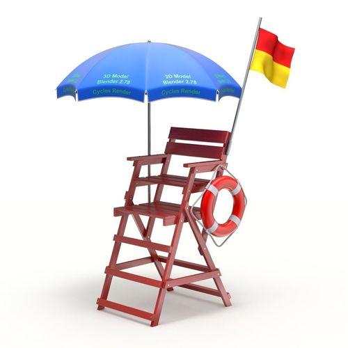 Genial Lifeguard Chair 3D Model