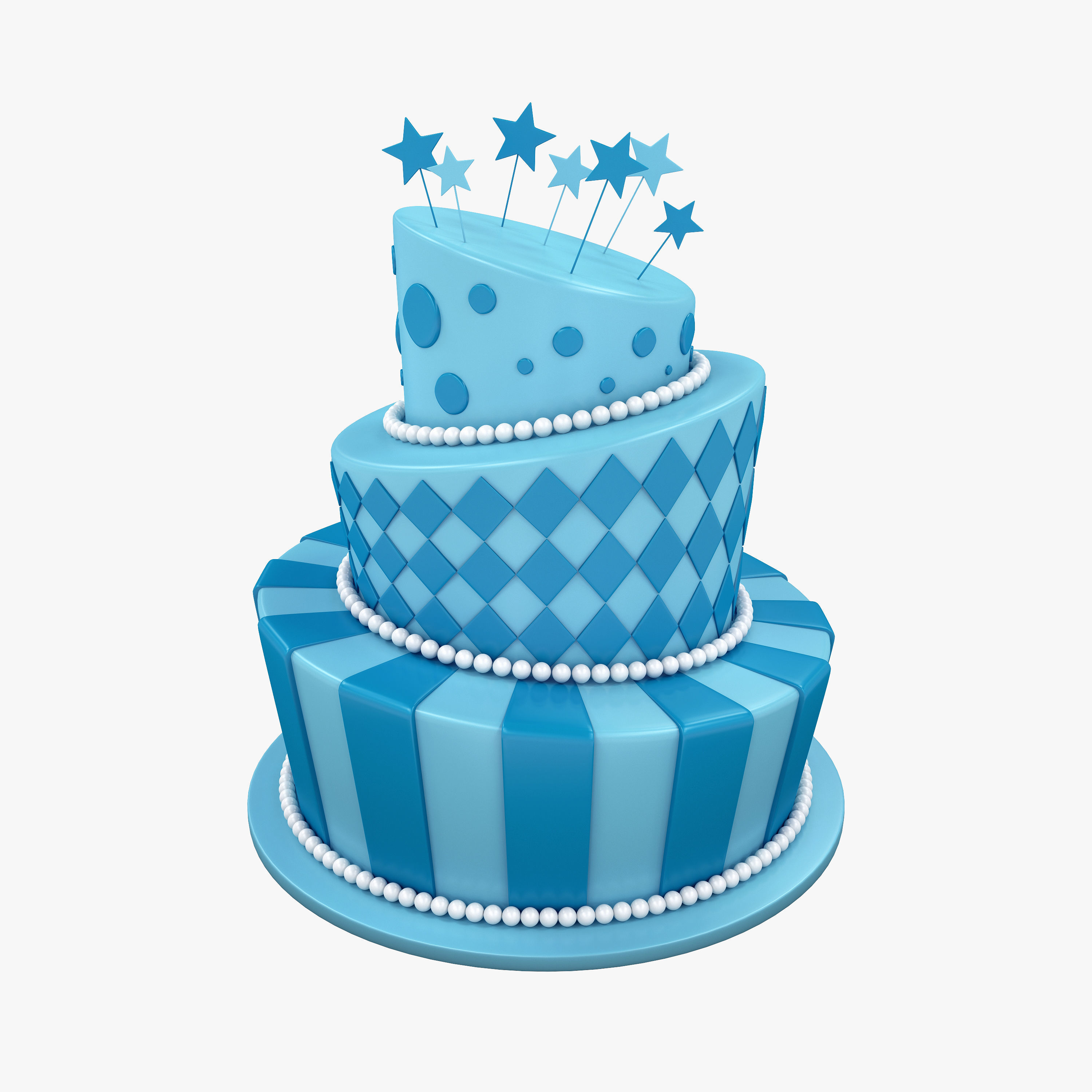 Birthday Cake Confectionery 3d Model Cgtrader