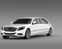 Mercedes Benz S Klasse Pullman Limousine 2016 3D Model