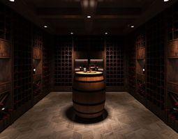 Wine Room 3D model