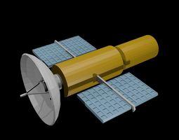 Low poly satellite 3D model
