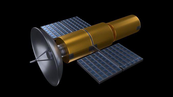 satellite 3d model blend 1