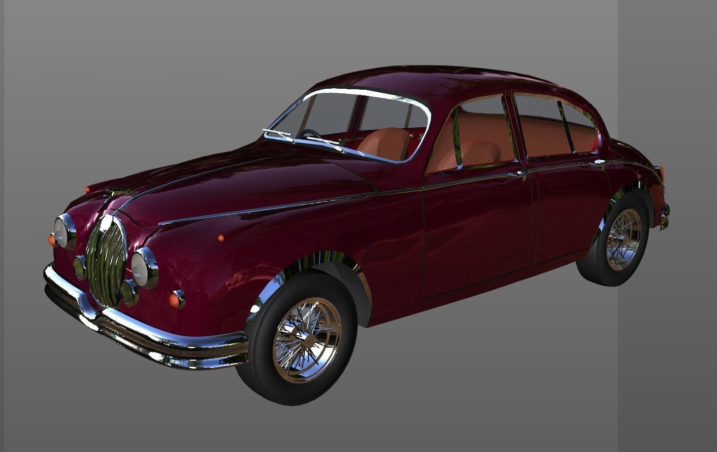 Jaguar Classic Car 3d Model Cgtrader