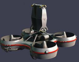 game-ready hovering radar platform animated 3d asset