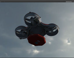 Hovering radar platform 3D Model