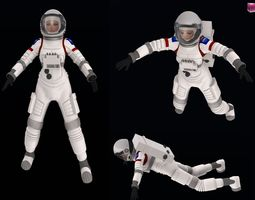 Female Space Suit Rigged 3D asset game-ready