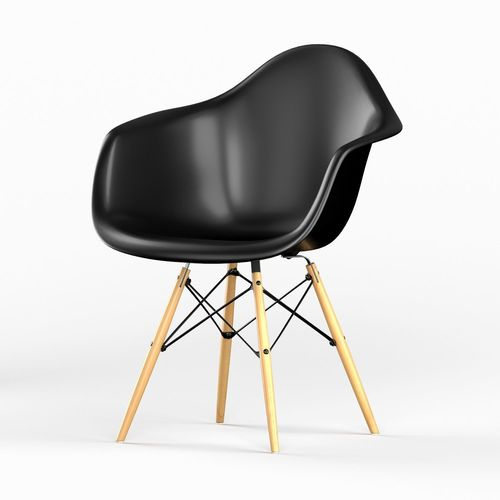 daw plastic chair by vitra eames 3d model max obj mtl 3ds fbx 1