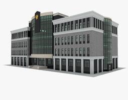 Court house 3D model exterior-public