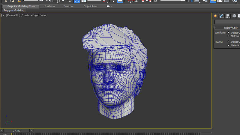 Hair Style 3d Image: 3D Model Male Hair Wig Formal Style VR / AR / Low-poly MAX