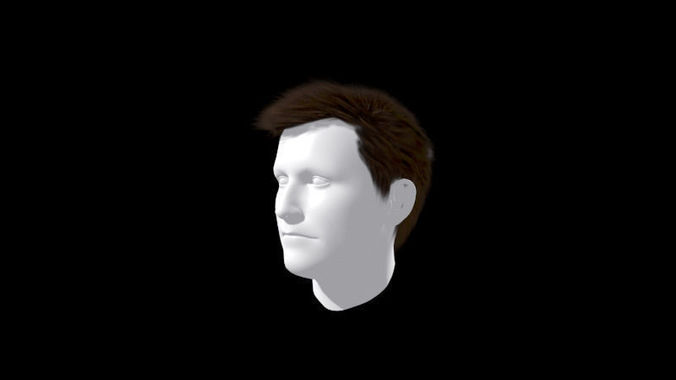 Hair Style 3d Image: Male Hair Wig Formal Style 3D Model Game Ready .max .fbx