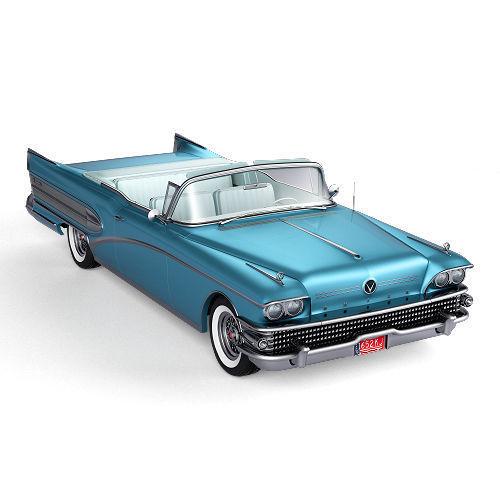 buick roadmaster convertible 1958 3d model obj mtl c4d 1