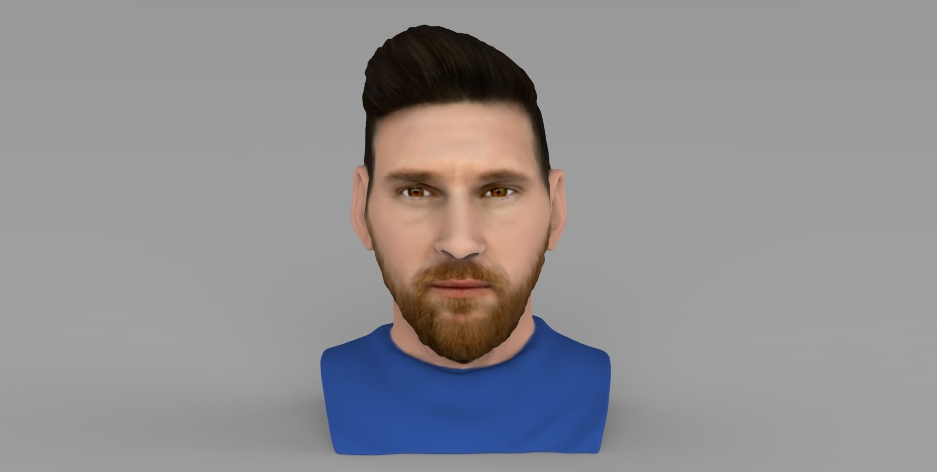 Lionel Messi bust ready for full color 3D printing
