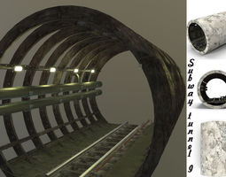 3D asset Subway tunnel I
