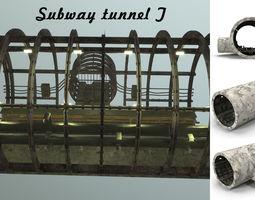3D asset Subway tunnel T
