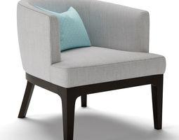 3D West Elm Oliver Chair