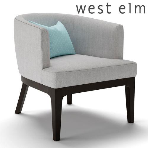 west elm oliver chair 3d model max obj mtl fbx 1