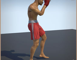 3D model Thai Boxer Unity And Unreal Animation Collection