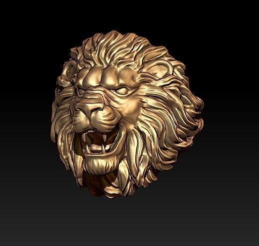 lion ring 3d model stl 3dm 1