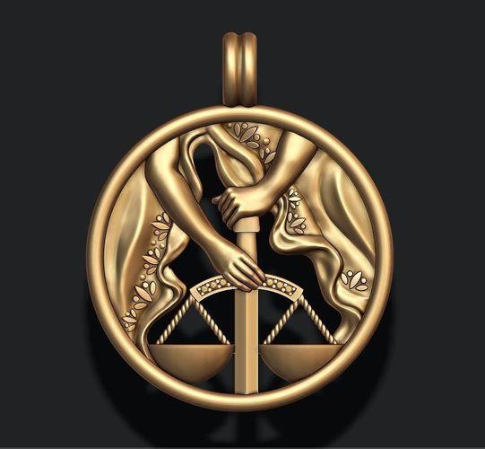 zodiac libra the scales 3d model stl 3dm 1