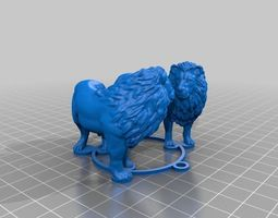 lions medallion 3d printable model