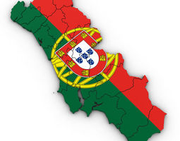 3d Political Map of Portugal