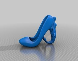 mermaid high heel shoe 3d printable model