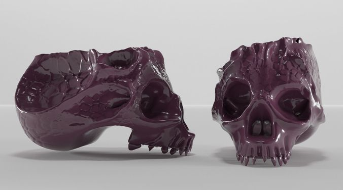 Bone skull ashtray