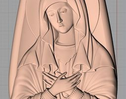 Christianity Jesus Christ Virgin Mary CNC 3D relief 1