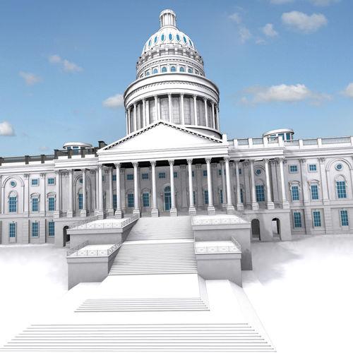 united states capitol building 3d model max fbx ma mb 1