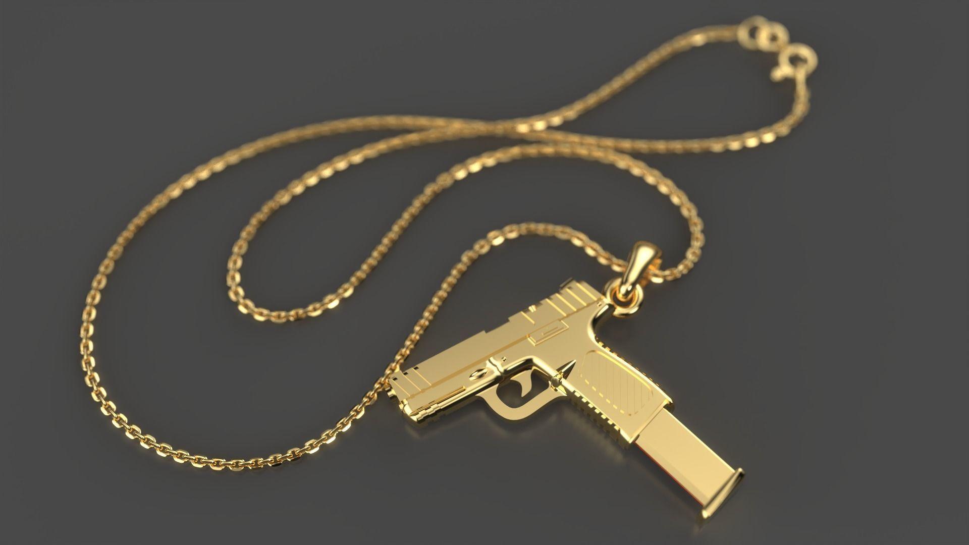 Smith and Wesson gun pendant