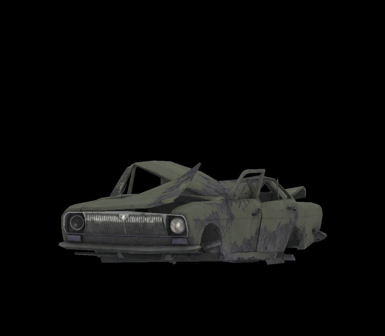 3d Asset Low Poly Wrecked Car Game Ready Cgtrader