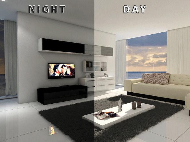 living room 12 Day night 3D model | CGTrader