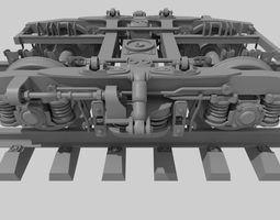 TROLLEY OF THE PASSENGER WAGON KVZ-CRI 3D model